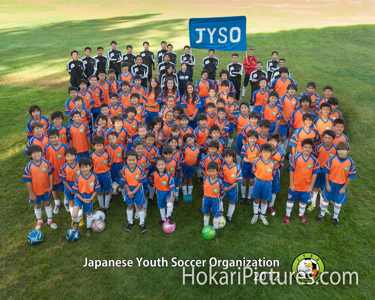 Soccer team group photo サッカーチーム集合写真