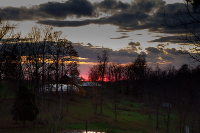 Sunset-Moonrise over Bedford-November 10, 2011-7