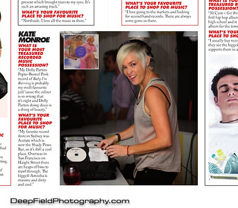 Three D world record store day edition - Kate Monroe article. Shot taken at IVY Sydney Stingers fundraiser pool party.