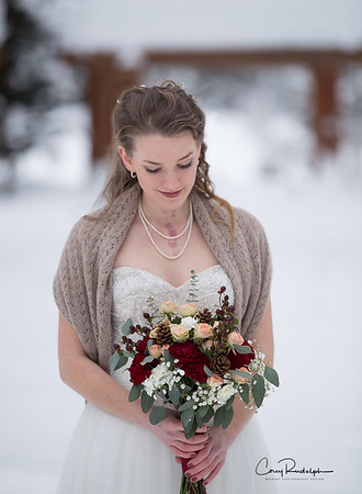 Beautiful winter wedding by Monkey Photography design Portland Oregon wedding photographer