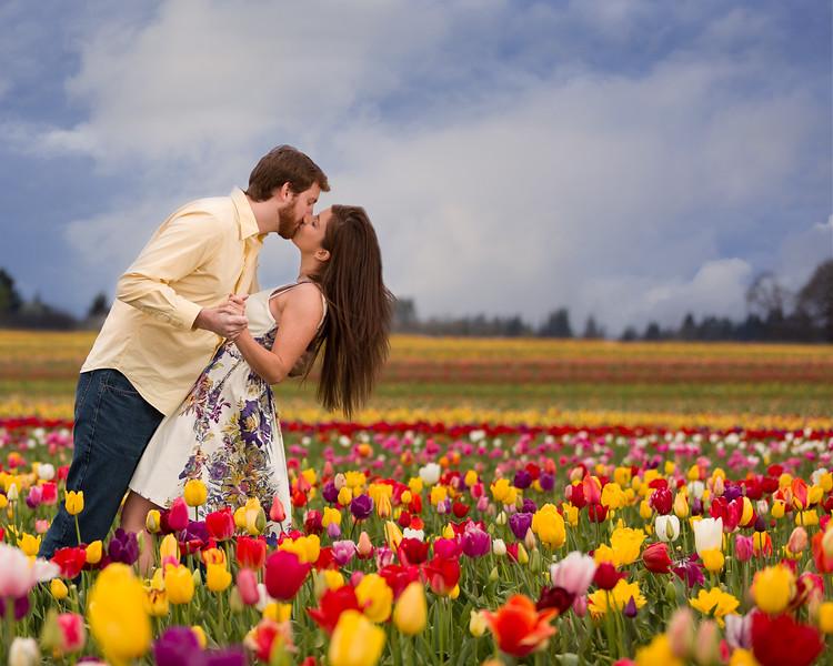 Engagement photography session Wooden shoe Tulip Festival