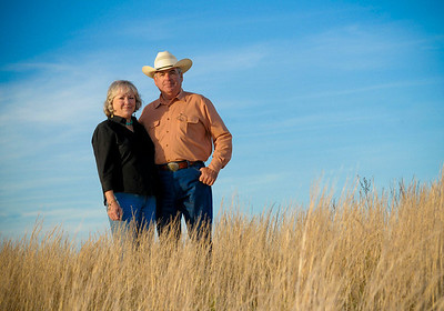 Anderson Ranch.  Jim Bill Anderson and his wife.