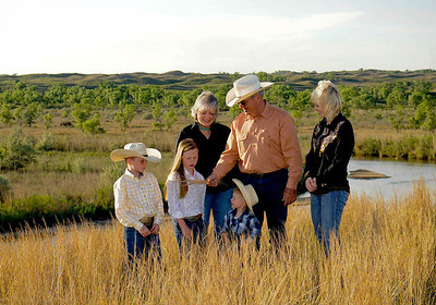 Anderson Ranch.  Jim Bill Anderson and his family.