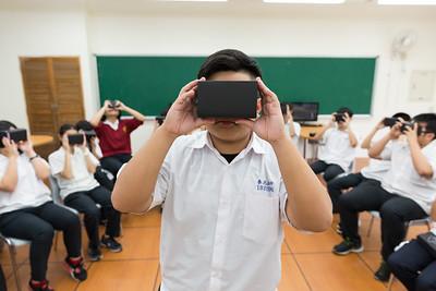 泰北高中學生在雲端創客教室體驗虛擬實境裝置