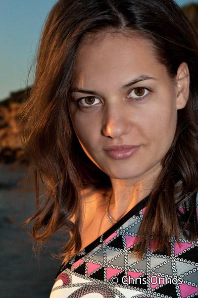 Anna on the beach.