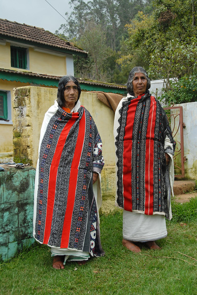 Two Todas ladies. Todas are the nature worshipping tribe living among the Nilgiri mountains in Southern India. They have their own language, rich arts and crafts and a unique way of community living.