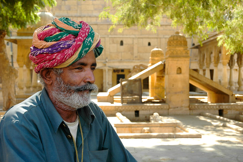 Rajasthani Man, Jaisalmer, Rajasthan, India.