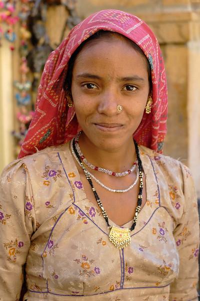 Rajasthani Lady, Jaisalmer, Rajasthan, India.
