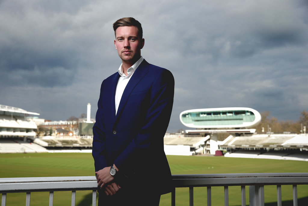 England and Nottinghamshire bowler Jake Ball at Lords
