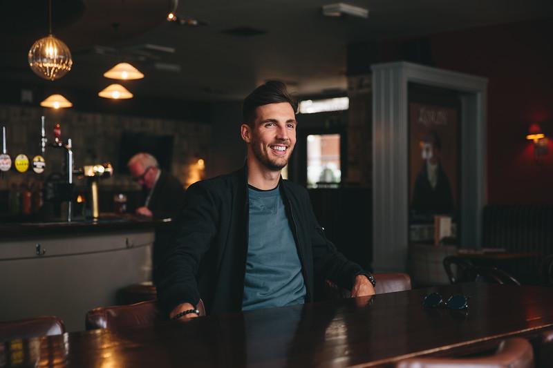 Steven Finn in the Lord's Tavern, 2017