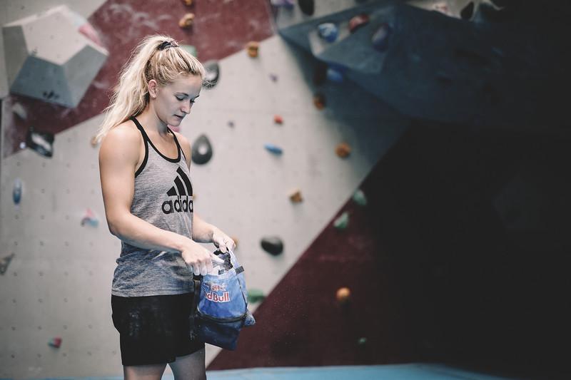 Rock Climber Shauna Coxsey of Team GB