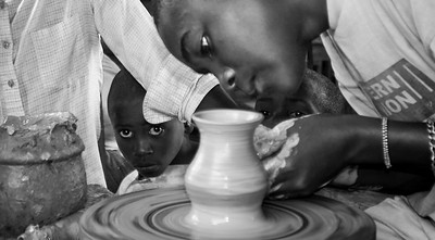 Orphan Boys, Pottery workshop at National Museum, Butare, Rwanda 2007