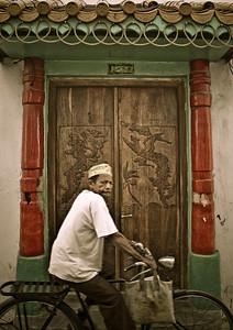 Man on bike, Stonetown, Zanzibar, Tanzania 2007