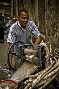 Sugar cane juicer; Stonetown, Zanzibar; Tanzania 2007