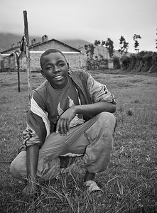 Football player, Kinigi, Rwanda 2007