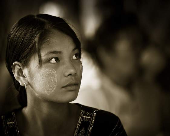 Young Woman; Shwedagon Pagoda, Yangon