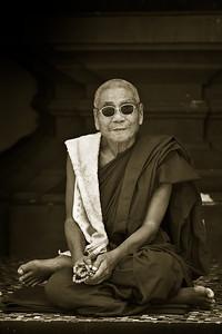Monk; Shwedagon Pagoda, Yangon