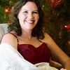 Beth with Christmas Tree
