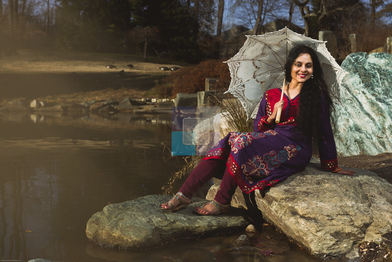 Model: Radha Dutta<br /> Photographer: Vigil, SLRCLIKZ Photography & Films<br /> Location: Brookside Garden, Wheaton, Maryland<br /> Theme: Ethnic Wear Environment Portrait