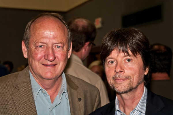 Dayton Duncan and Ken Burns at the reception for the premiere of The National Parks: America's Greatest Idea