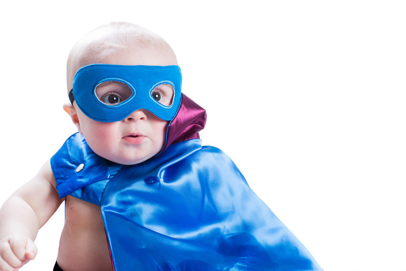 Super Connor is gearing up to face the bad guys. His powers of cute will conquer all!!