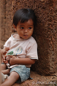 Toddler at the Wat, Cambodia
