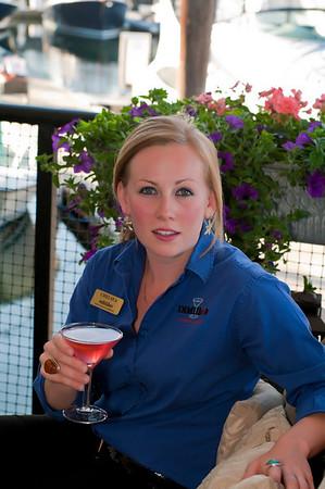 DiMillo's Floating Restaurant's beautiful bartender, Chelsea DiMillo.