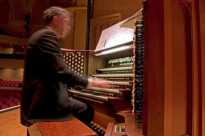 Portland's fabulous Municipal Organist, Ray Cornils, plays the Kotschmar organ for me at Merrill Auditorium.