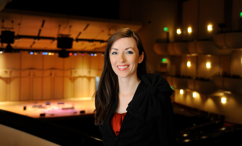 Vanessa Ballam, an assistant professor of theatre at Idaho State University, stands for a portrait at the Performing Arts Center at Idaho State University in Pocatello, Idaho on March 4, 2015.