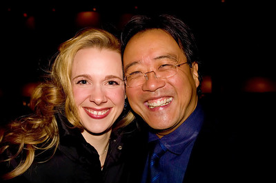 MPBN host and Program Director, Suzanne Nance and internationally acclaimed cellist, Yo Yo Ma!