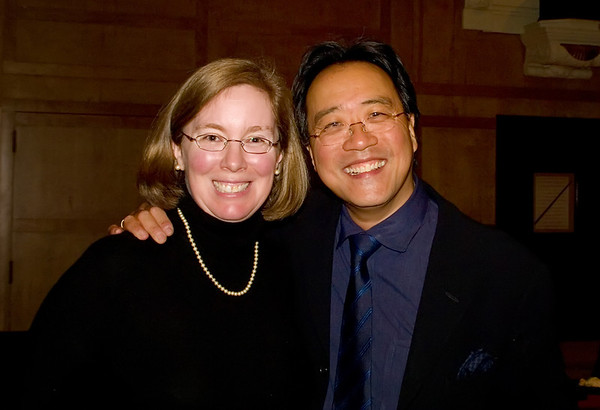 2.26.09 Cindy and Yo Yo Ma at the PCA Great Performances post-concert reception for Yo Yo Ma