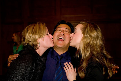 MPBN host and Program Director, Suzanne Nance and Aimee Petrin, director of Portland Ovations give a Maine welcome to internationally acclaimed cellist, and all around nice guy, Mr. Yo Yo Ma!