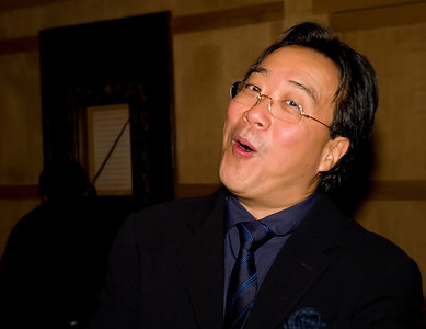 Mr. Yo Yo Ma hams it up for me and my camera!
