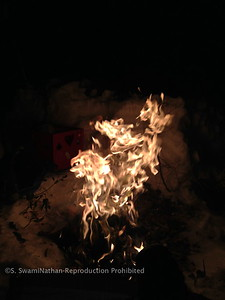 Yagna Fire on Mt. Shastha, Christmas Eve, 2012