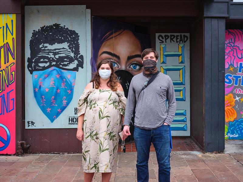 Katharine and Wesley, Pandemic Portrait - Austin, Texas