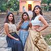 Three Models at a Temple - Bangalore, India