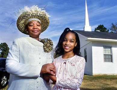 Green Elementary fifth-grader Ivorie Taylor, 10, of Jackson says she's thankful for her pastor, Bettye Ervin, who takes special care to ensure that her message reaches the younger members of her congregation at Emmanuel Tabernacle in Christ in Bolton.