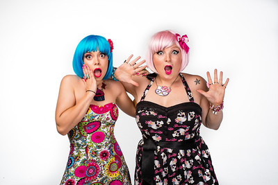 Nina Griffee, left, owner and CEO of Face Slap, and Samantha West, Senior Artist, pose for a photo in their studio.