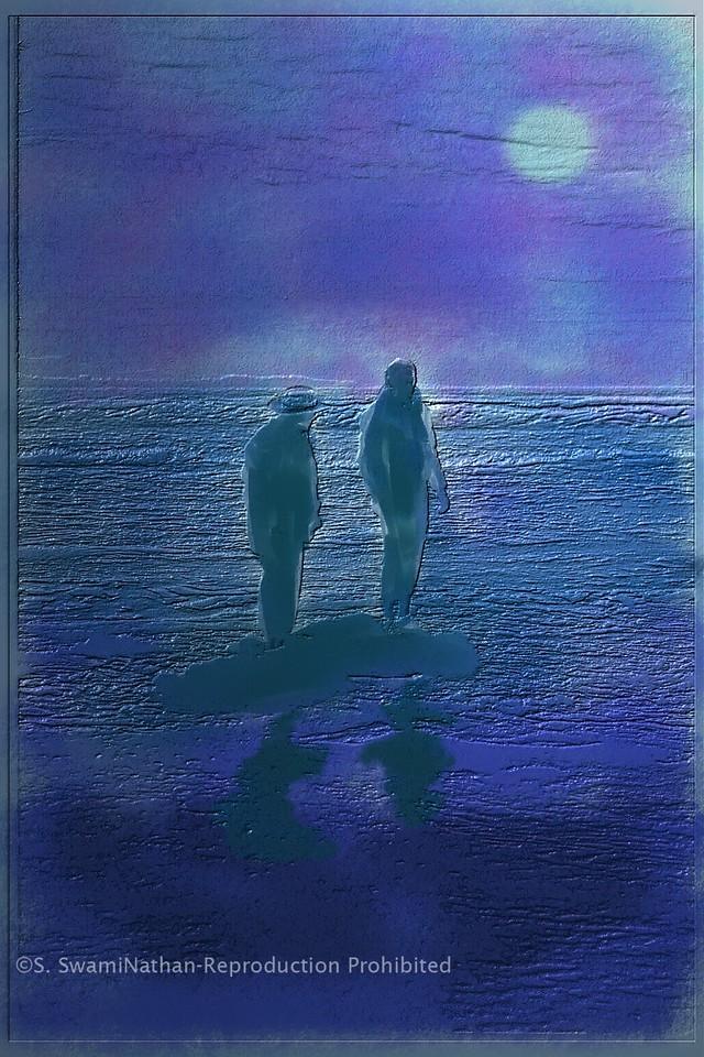 Isolated at Rising Tide, New Brighton Beach, Aptos, CA