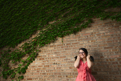 Kaylie Smith - Senior Portraits  Kaylie is a senior at Crown Point High School. We've been rescheduling for MONTHS... but I really think the wait paid off because we took some killer shots together. Kaylie killed it. Pigtails and ivy? Yes. I think so!