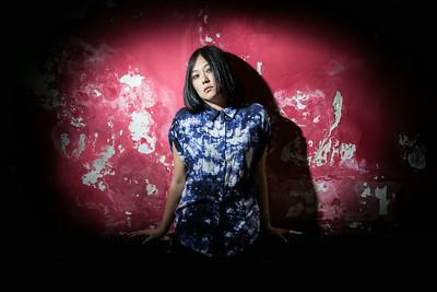 Helen Feng, lead singer for Nova Heart, poses for a portrait in Yugong Yishan.