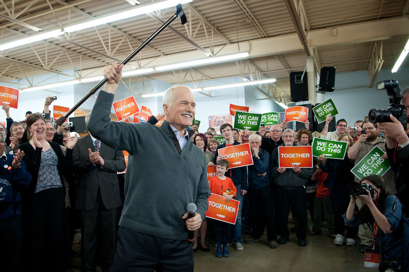 April 2011 Winnipeg <br /> Jack Layton July 18, 1950 – August 22, 2011 Canadian social democratic politician and the Leader of the Opposition in the Parliament of Canada.