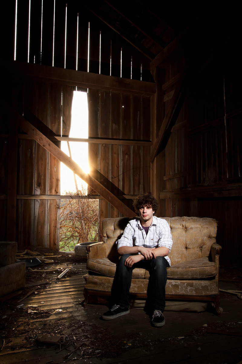 Josh Ryan High School Senior Portrait Abandoned Barn - Crown Point, Indiana