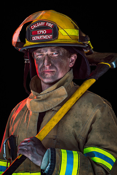 Fire-fighter Headshot