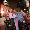 8 with Biker on 6th Street - Austin, Texas
