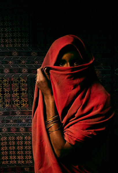 North African veiled woman