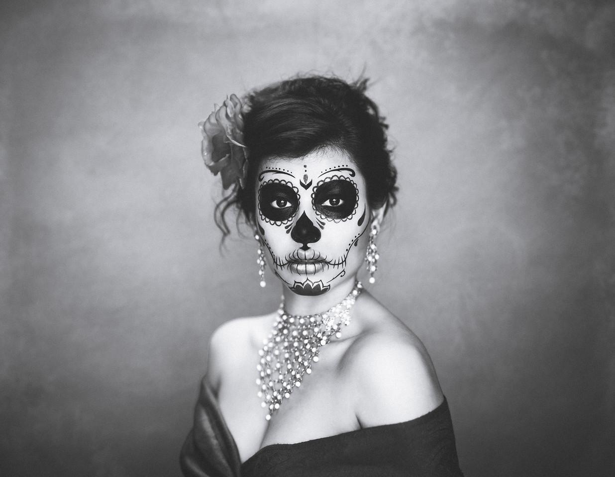 Dia De Los Muertos - B&W