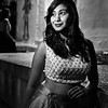 Veena, Black and White Portrait - Bangalore, India