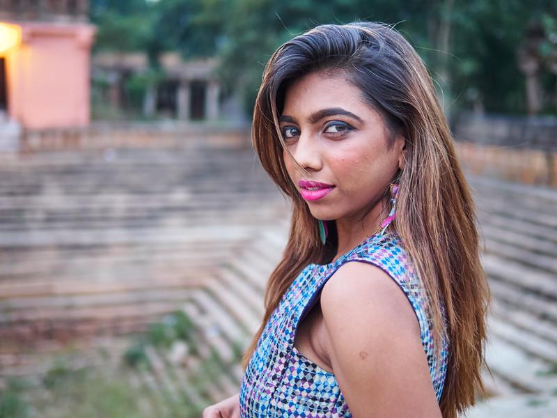 Sarika at the Temple - Bangalore, India