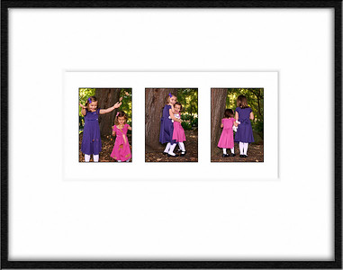 Two sisters having fun.  3 framed together.